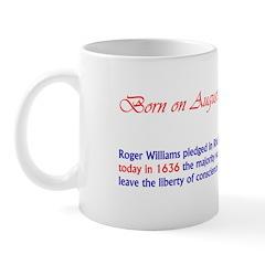 Mug: Roger Williams pledged in Rhode Island today