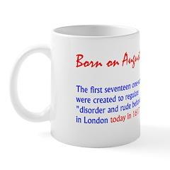 Mug: First seventeen one-way streets were created