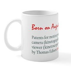 Mug: Patents for motion picture camera (kinetograp