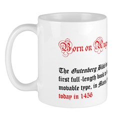 Mug: Gutenberg Bible became the first full-length
