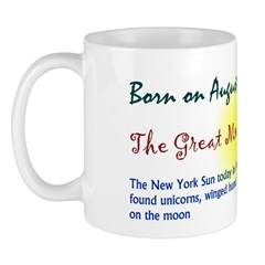 Mug: Great Moon Hoax The New York Sun today in 183