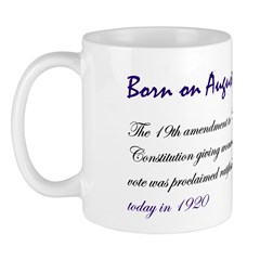 Mug: 19th amendment to US Constitution giving wome