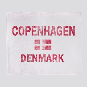 Copenhagen Denmark Designs Throw Blanket