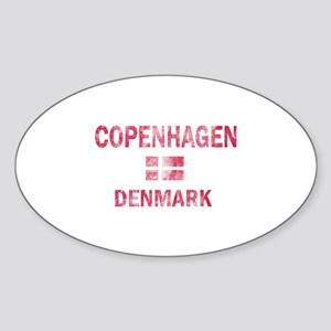 Copenhagen Denmark Designs Sticker (Oval)