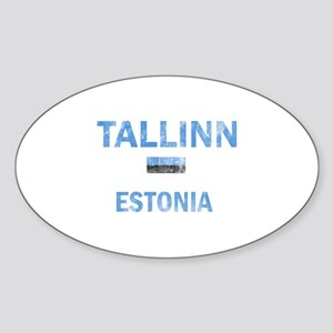 Tallinn Estonia Designs Sticker (Oval)