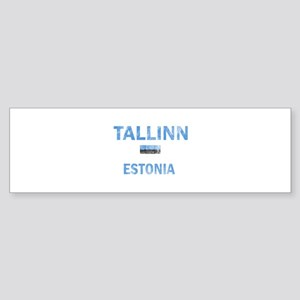 Tallinn Estonia Designs Sticker (Bumper)