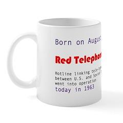 Mug: Red Telephone Day Hotline linking tele-ty