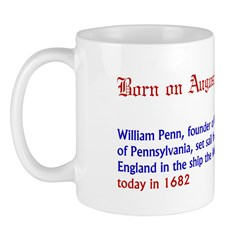 Mug: William Penn, founder of the colony of Pennsy