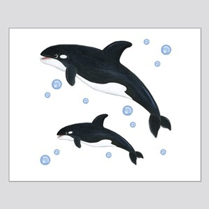 Killer Orca Whales Small Poster