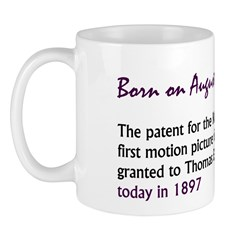 Mug: Patent for the Kinetoscope, the first motion