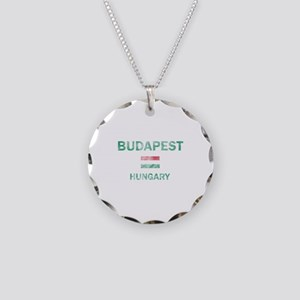Budapest Hungary Designs Necklace Circle Charm