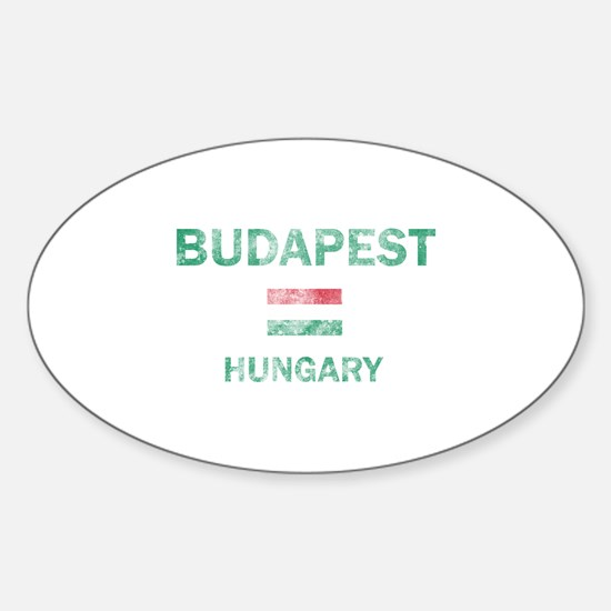 Budapest Hungary Designs Sticker (Oval)