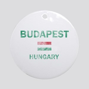 Budapest Hungary Designs Ornament (Round)
