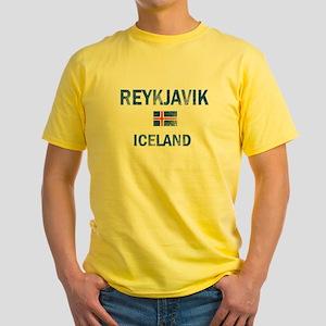 Reykjavik Iceland Designs Yellow T-Shirt