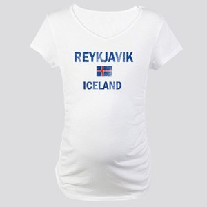Reykjavik Iceland Designs Maternity T-Shirt