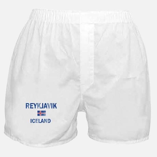 Reykjavik Iceland Designs Boxer Shorts