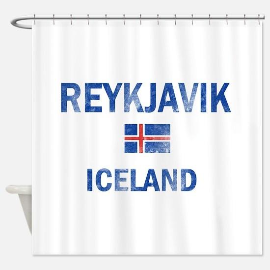 Reykjavik Iceland Designs Shower Curtain