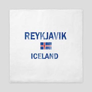 Reykjavik Iceland Designs Queen Duvet