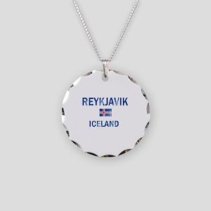 Reykjavik Iceland Designs Necklace Circle Charm
