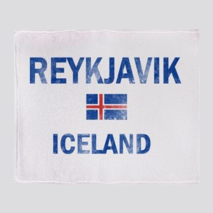 Reykjavik Iceland Designs Throw Blanket