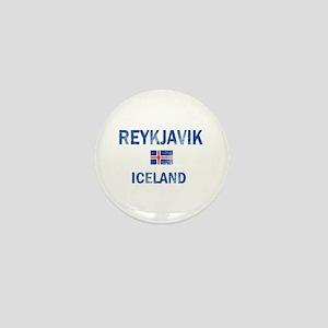 Reykjavik Iceland Designs Mini Button