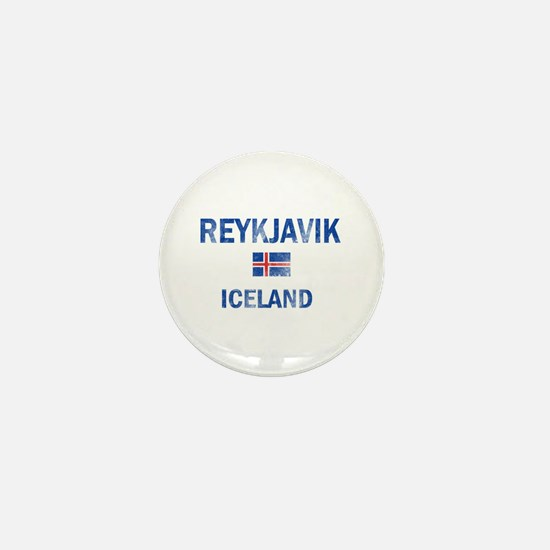 Reykjavik Iceland Designs Mini Button