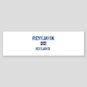 Reykjavik Iceland Designs Sticker (Bumper)