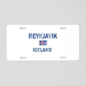 Reykjavik Iceland Designs Aluminum License Plate