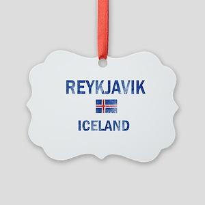 Reykjavik Iceland Designs Picture Ornament