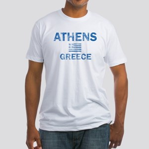 Athens Greece Designs Fitted T-Shirt