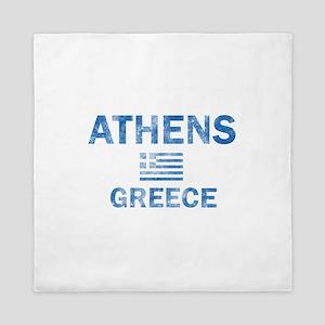 Athens Greece Designs Queen Duvet