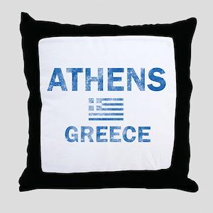 Athens Greece Designs Throw Pillow