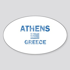 Athens Greece Designs Sticker (Oval)