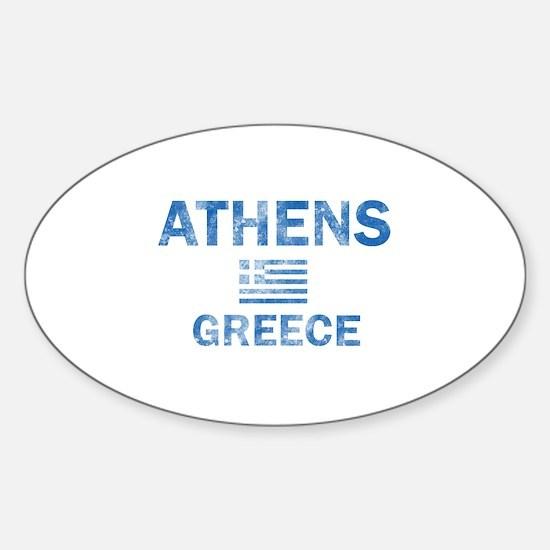 Athens Greece Designs Sticker (Oval)
