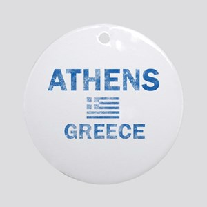Athens Greece Designs Ornament (Round)