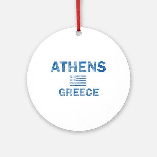 Athens Greece Designs Ornament (Round)