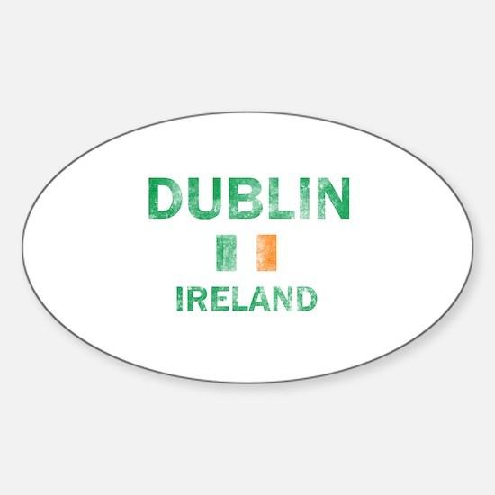 Dublin Ireland Designs Sticker (Oval)