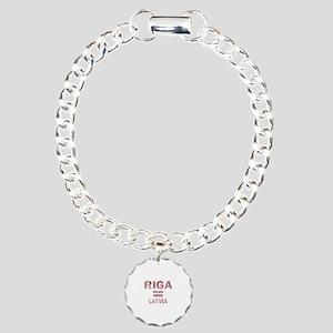 Riga Latvia Designs Charm Bracelet, One Charm