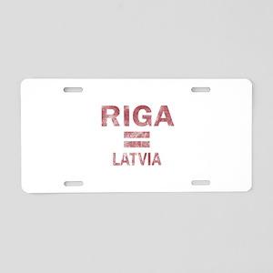Riga Latvia Designs Aluminum License Plate