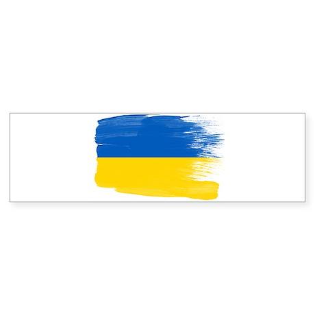 Iras Ukraine Flag Sticker Sticker (Bumper)