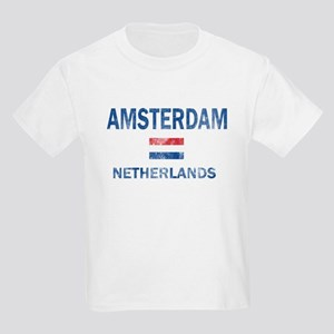 Amsterdam Netherlands Designs Kids Light T-Shirt