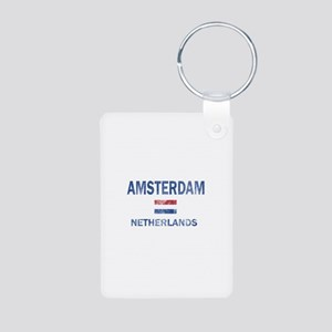 Amsterdam Netherlands Designs Aluminum Photo Keych