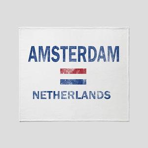 Amsterdam Netherlands Designs Throw Blanket