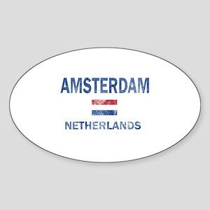 Amsterdam Netherlands Designs Sticker (Oval)