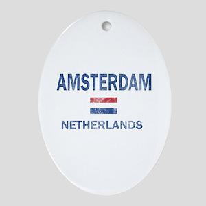 Amsterdam Netherlands Designs Ornament (Oval)