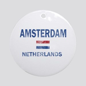 Amsterdam Netherlands Designs Ornament (Round)