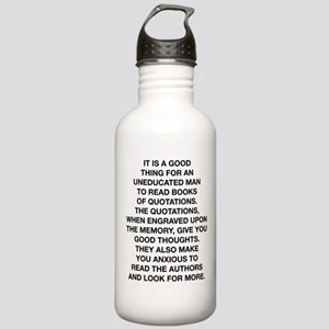 Books Of Quotations Stainless Water Bottle 1.0L