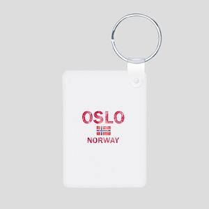 Oslo Norway Designs Aluminum Photo Keychain