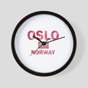 Oslo Norway Designs Wall Clock