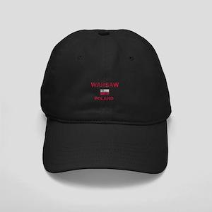 Warsaw Poland Designs Black Cap